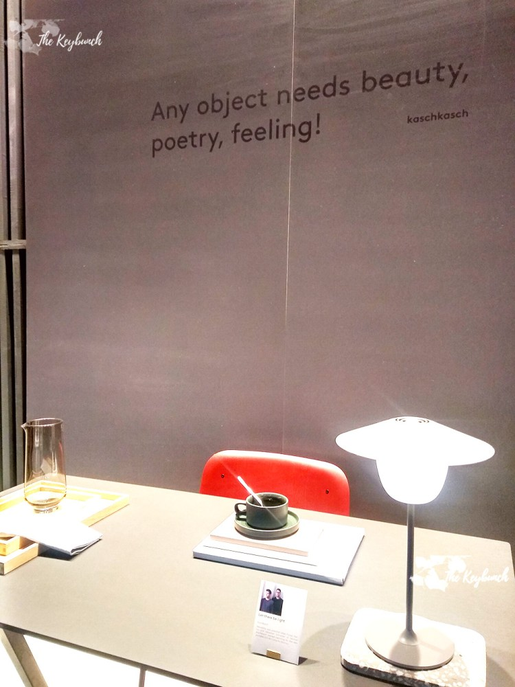 Kaschkasch a furniture and lighting design studio, also asks visitors to invoke feelings, poetry