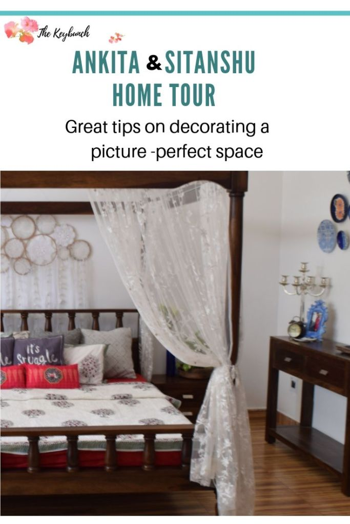 Home decor Tour by Ankita and Sitanshu's in Lucknow - Tips on decorating a picture at perfect space