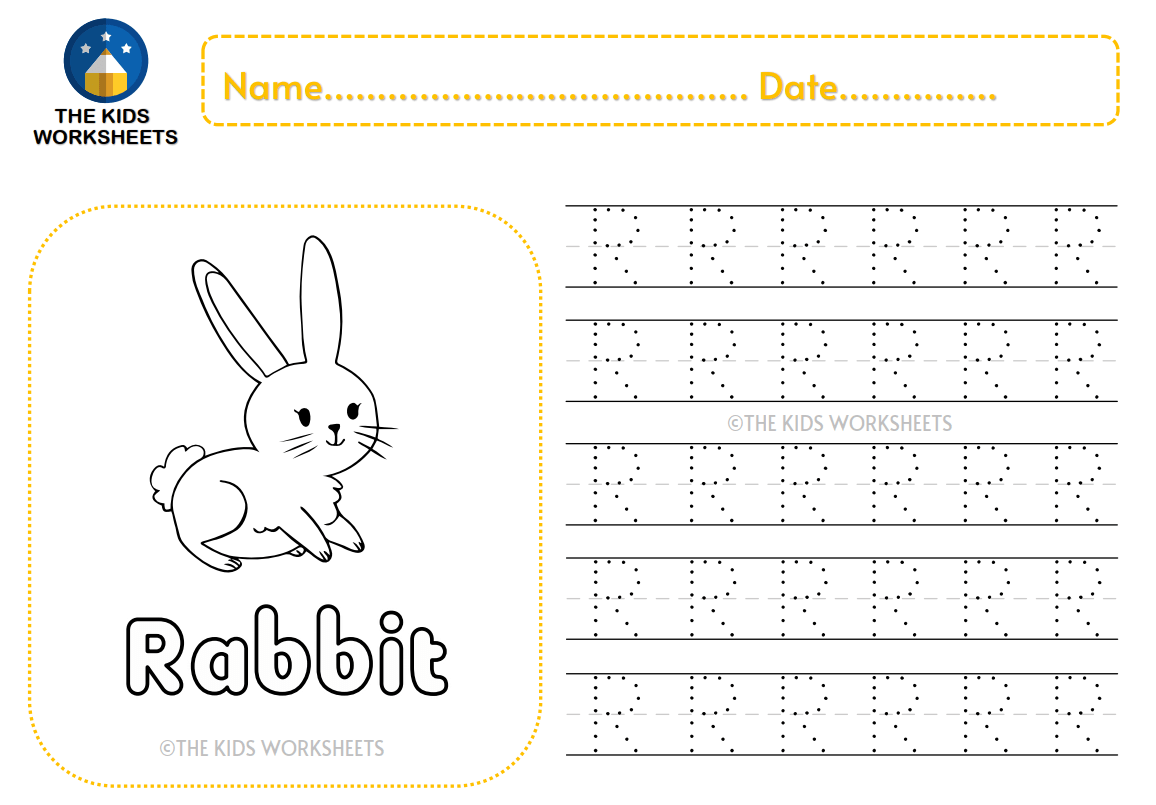 Trace The Letter R The Kids Worksheets