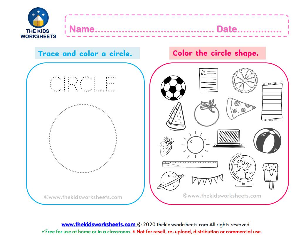 Shapes Circle Worksheet The Kids Worksheets