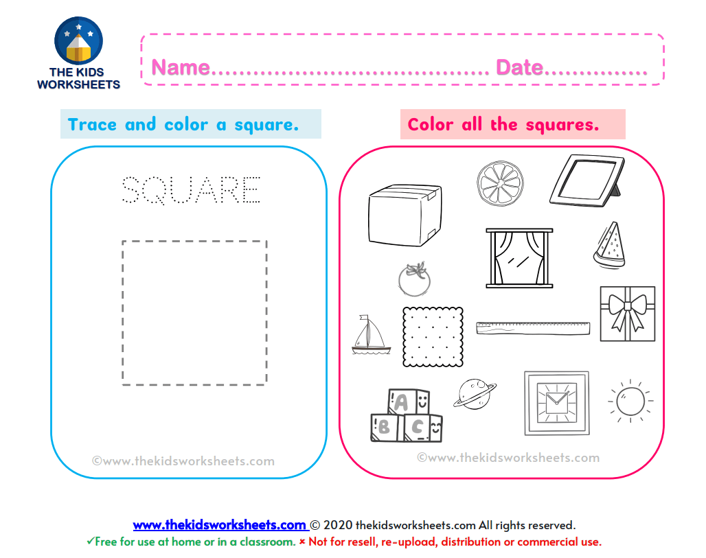 Shapes Square Worksheet The Kids Worksheets