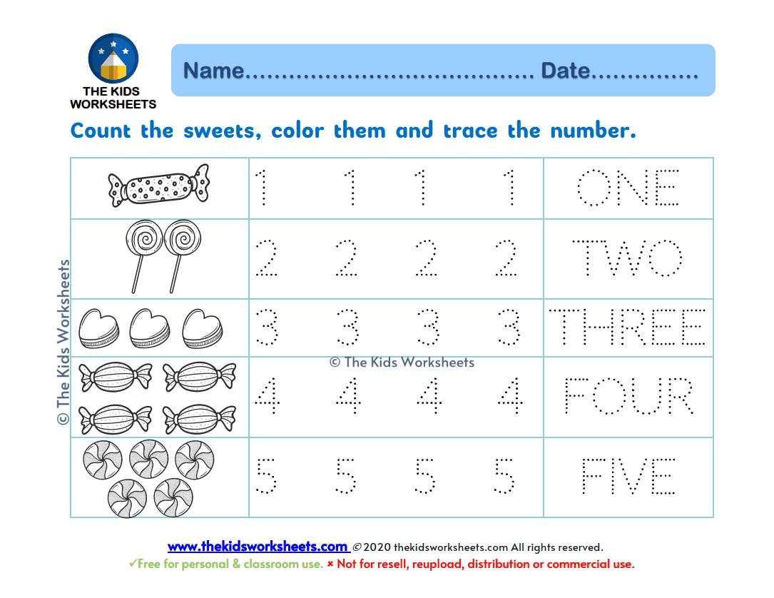 Trace Number 1 10 Worksheets The Kids Worksheets