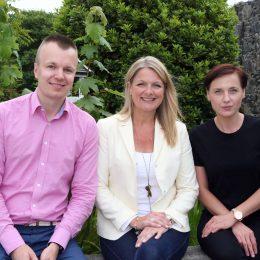 Picture By Steve Sarre 18-06-18 Oatlands The Kiln Pride of Guernsey welcome of the year L-R Grzegorz Szczepawski, Jennifer Meeks and Agnieszka Fiszeri