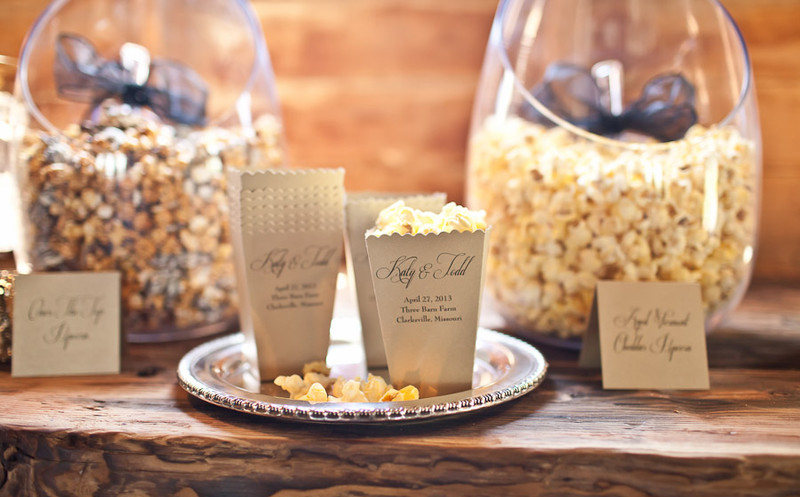 popcorn wedding flavors