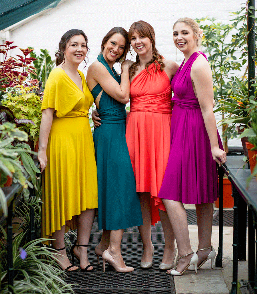 ab934b29d9 With 13 colors readily available or a custom color possible and 4 different  skirt length options bridesmaids will love wearing theses dresses on the  day of ...