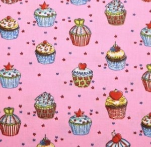 K - pink cupcakes