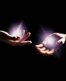 Emanating light from hands