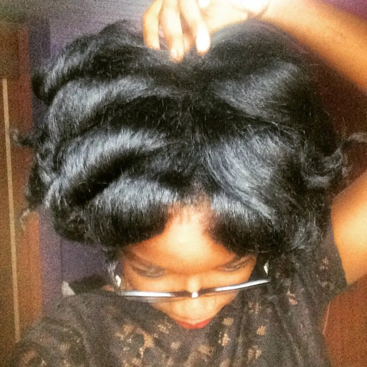 Curls on Silk pressed natural hair