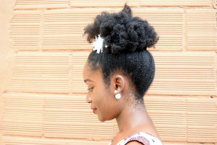 Natural hair puff
