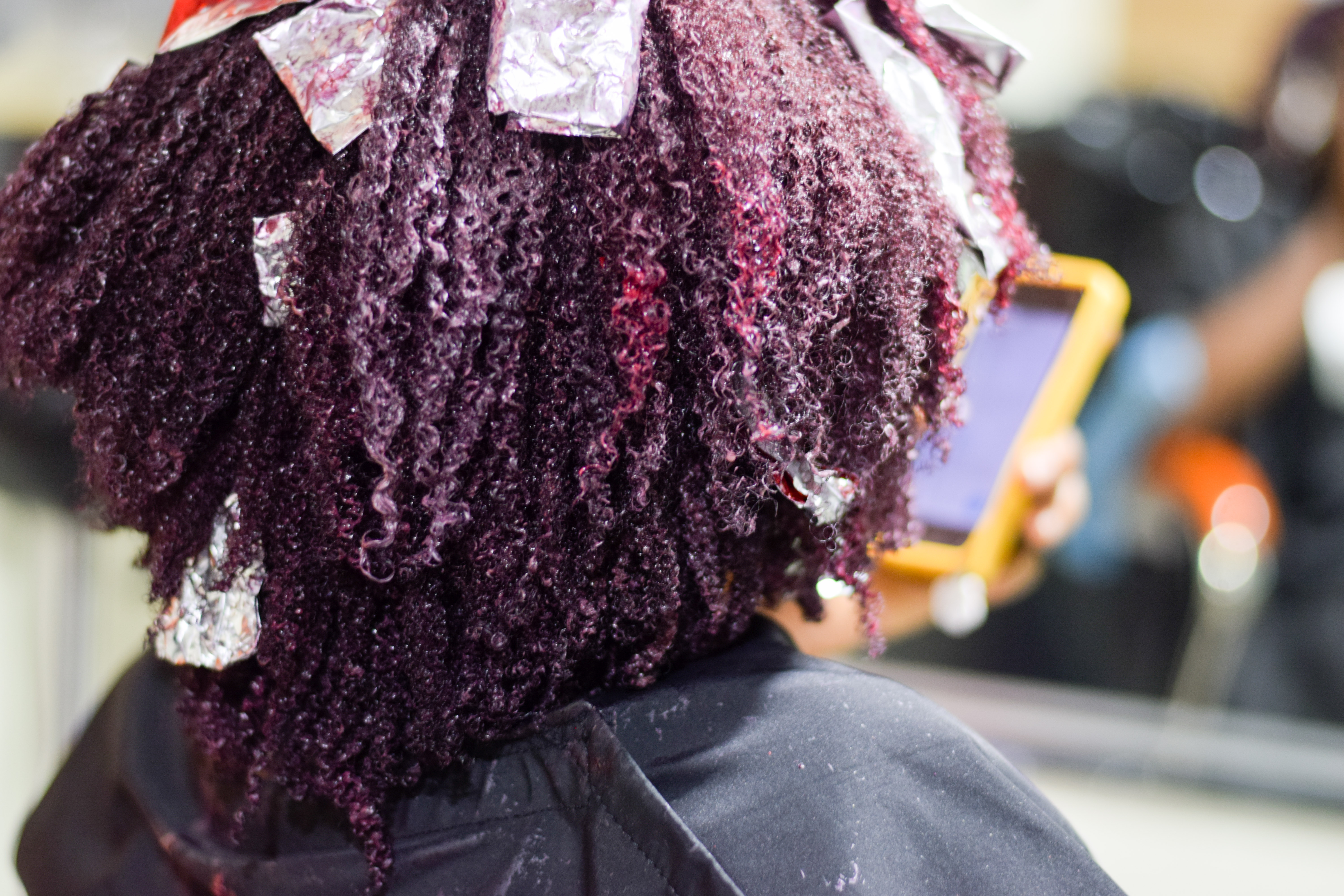 I Dyed My 4C Natural Hair Purple with Red Highlights! | The Kink and I