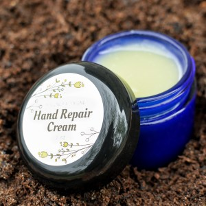 Hand Repair Cream with Open Lid