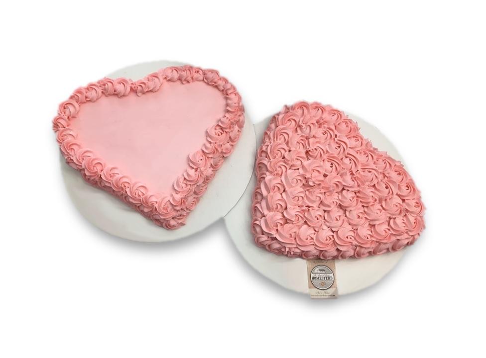 Heart Sheet Cake