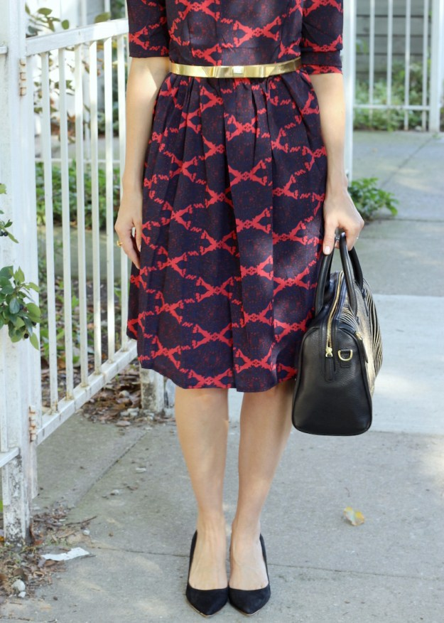 Fall Styled Pattern Dress The Kissing Booth Blog