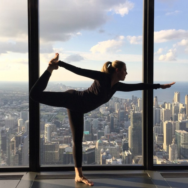 Yoga Class 99 Floors Up In Chicago