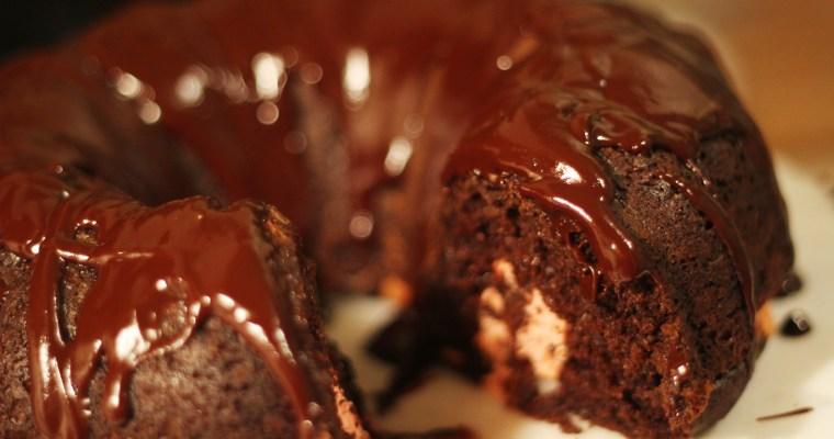 Minty Devil's Food Bundt Cake