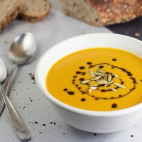 German Cream of Pumpkin Soup (Kürbiscremesuppe)