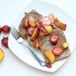 Caramelized Peach & Strawberry French Toast