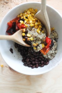This black bean and quinoa salad is the perfect meal prep food! It's filled with plant based protein, healthy fats, nutrients, and flavor. Plus, it comes together in under an hour and requires less than 10 ingredients.