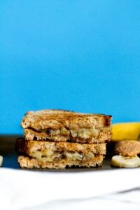 This caramelized banana & peanut butter grilled sandwich is dessert in breakfast form! It's filled with healthy fats, flavor, natural sweetness, and is the ultimate indulgent meal. Enjoy it as a snack, breakfast, or dessert- it's perfect for any meal.