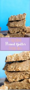 These 4 ingredient peanut butter protein bars are vegan, gluten free, refined sugar free, packed with protein, and no bake!