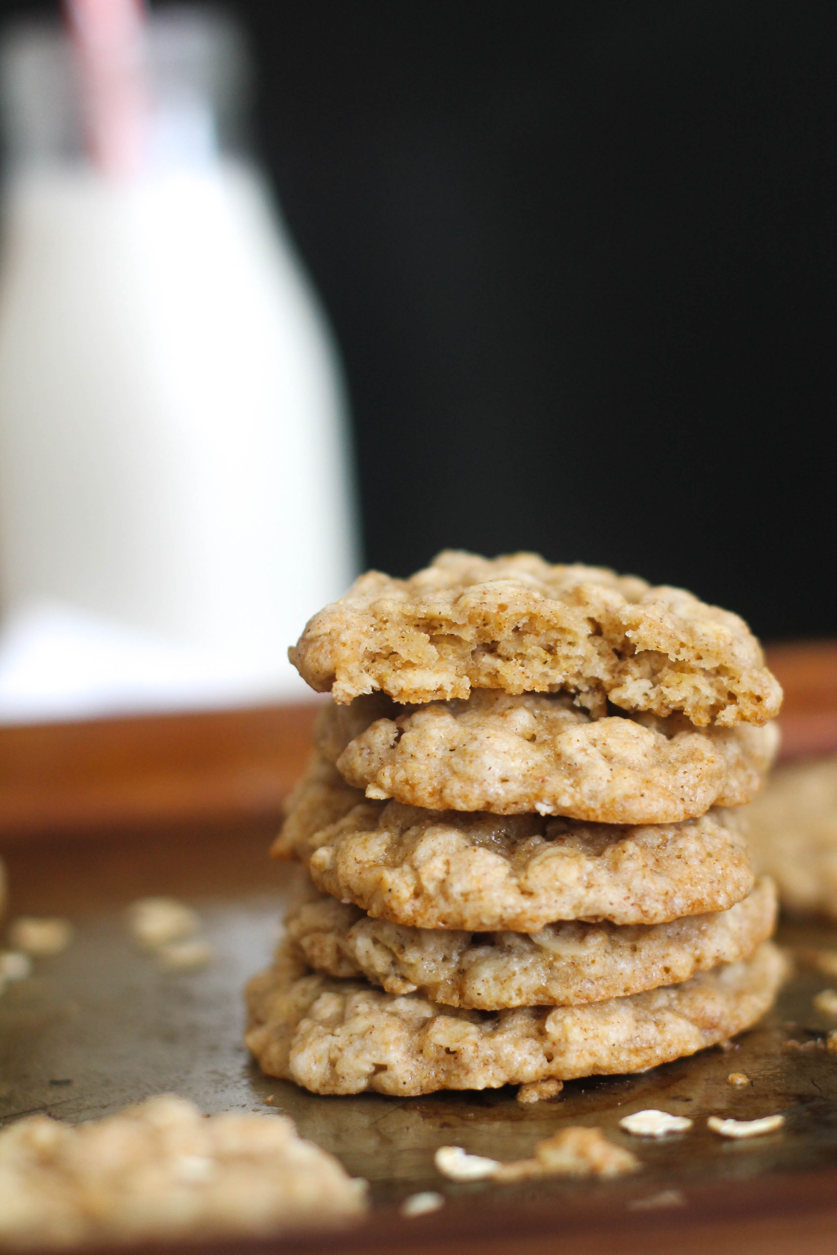 These chai spiced oatmeal cookies are vegan, gluten free, full of flavor, and an easy dessert. Made with seven ingredients and only requiring 30 minutes, these make for a healthier alternative.