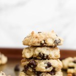 Vegan Peanut Butter Stuffed Chocolate Chip Cookies