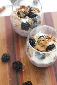 Triple Berry Chia Pudding that's vegan, gluten free, paleo friendly, and requires 5 ingredients!