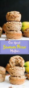 These one bowl banana pecan muffins are vegan, gluten free, and sugar free! They're naturally sweet, filled with flavor, and take less than an hour to make.