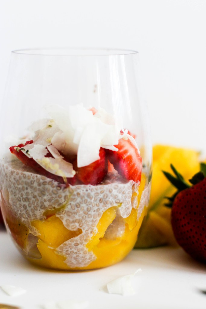 Mango Strawberry Chia Pudding (V&GF)