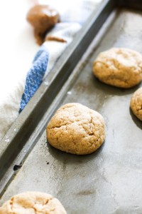 These soft &chewy almond butter cookies are vegan, gluten free, paleo, and the perfect treat. They're naturally sweet, filled with flavor, and require eight ingredients.