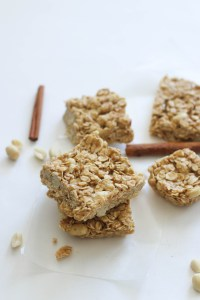 These no bake crunchy peanut granola bars are vegan, gluten free, and the perfect snack! With no oven required, these come together in under an hour and are filled with flavor.