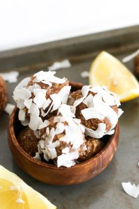 These lemon coconut bites are filled with protein, healthy fats, carbs, and make for a great snack. Plus, they're practically summer in a snack!