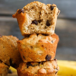 These banana bread chocolate chip muffins are protein packed, full of flavor, and the perfect snack! Made with minimal, natural ingredients, this will satisfy your sweet tooth instantly.