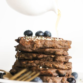 These blueberry buckwheat oatmeal pancakes are vegan, gluten free, refined sugar free, and delicious! Made with minimal ingredients and filled with flavor, they're a great weekend brunch dish.