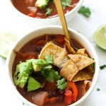Black Bean Tortilla Soup (V&GF)