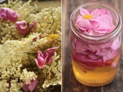 Wildflowers infused vinegar by The Bite House