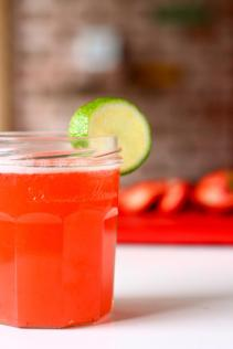 Strawberries agua fresca