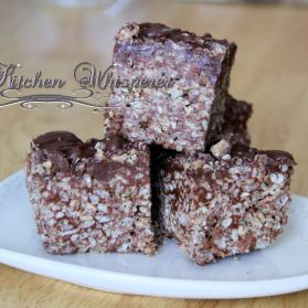 Nutella Tofee Krispy Bars