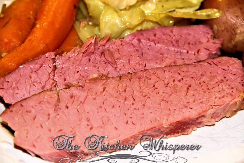 Guinness Crock Pot Corned Beef & Cabbage with a Guinness Reduction Sauce
