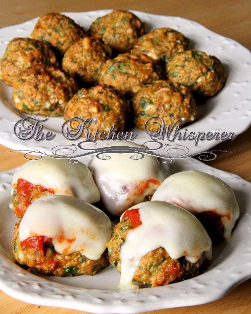 Protein Chicken Parm Florentine Meatballs5