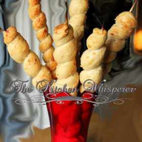 Cheesy Herbed Twisted Breadstick Twirls
