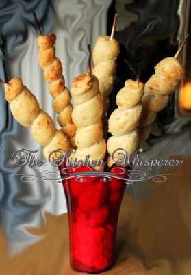 Cheesy Herbed Twisted Breadstick Twirls
