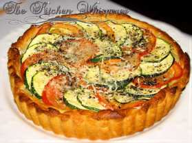 Summery Tomato Zucchini Tart