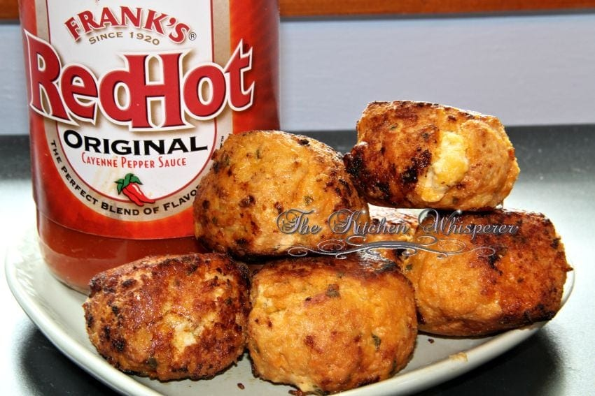 Stuffed Buffalo Chicken Meatballs with cheesy ranch centers2