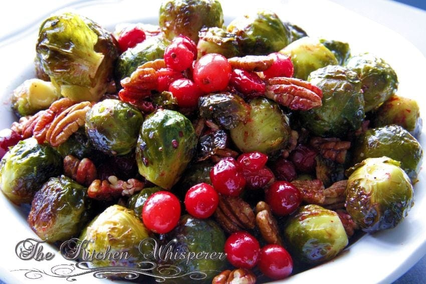 Roasted Brussels Sprouts Cranberries Pecans1