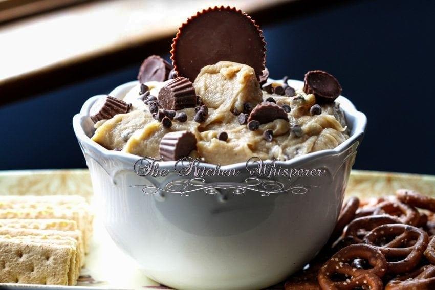 Chocolate Peanut Butter Cup Cookie Dough Dip