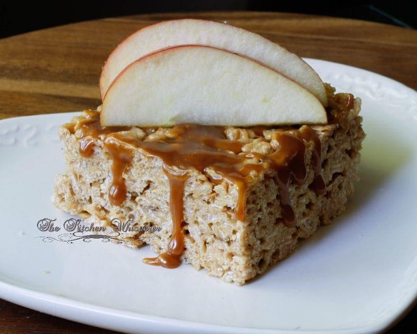Caramel Apple Rice Crispy Bars1