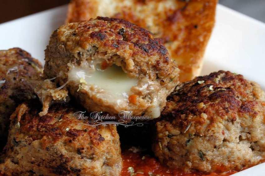 Mozzarella Stuffed Italian Meatballs1