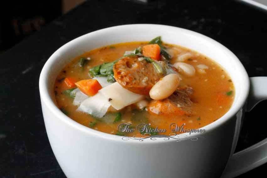 Tuscan White Bean & Sausage Spinach Soup3