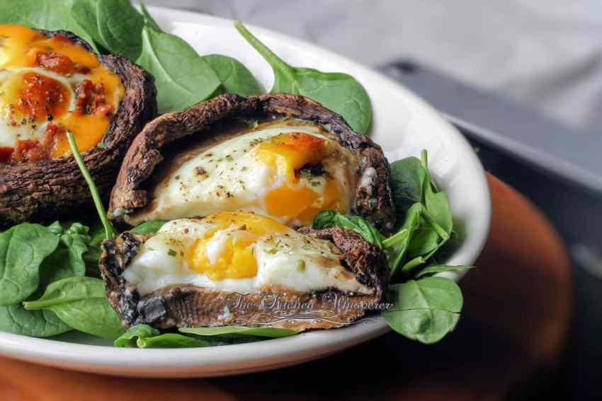 Egg Stuffed Skinny Portabello Caps7
